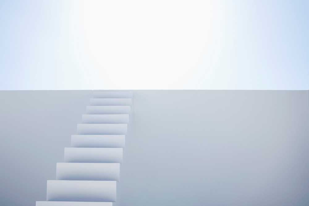468653 White modern stairs of